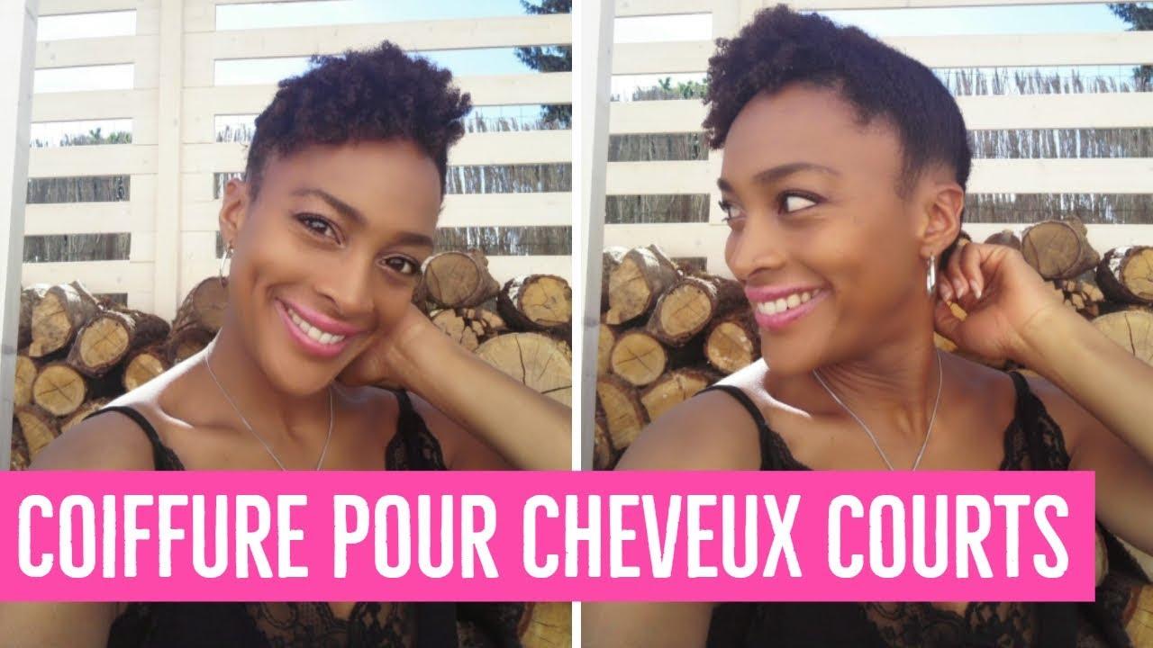 Chignon Banane sur Cheveux Crépus Courts || Banana Bun on TWA hair - YouTube