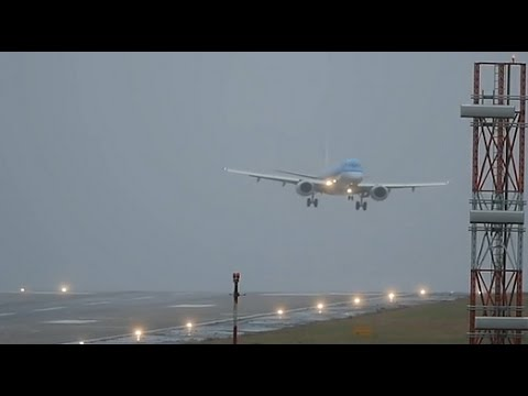 Storm Doris forces plane into treacherous landing at Leeds Bradford airport