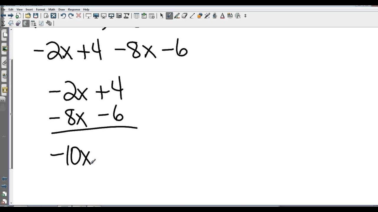 worksheet Subtracting Polynomials algebra i 7 5 adding and subtracting polynomials youtube polynomials