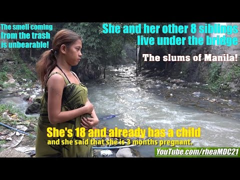 Travel to Manila Philippines and Meet this Family Who Sleep Under the Bridge. The Manila Slums