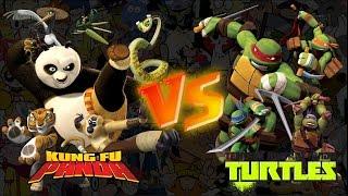 kung fu panda vs as tartarugas ninja batalha de rap
