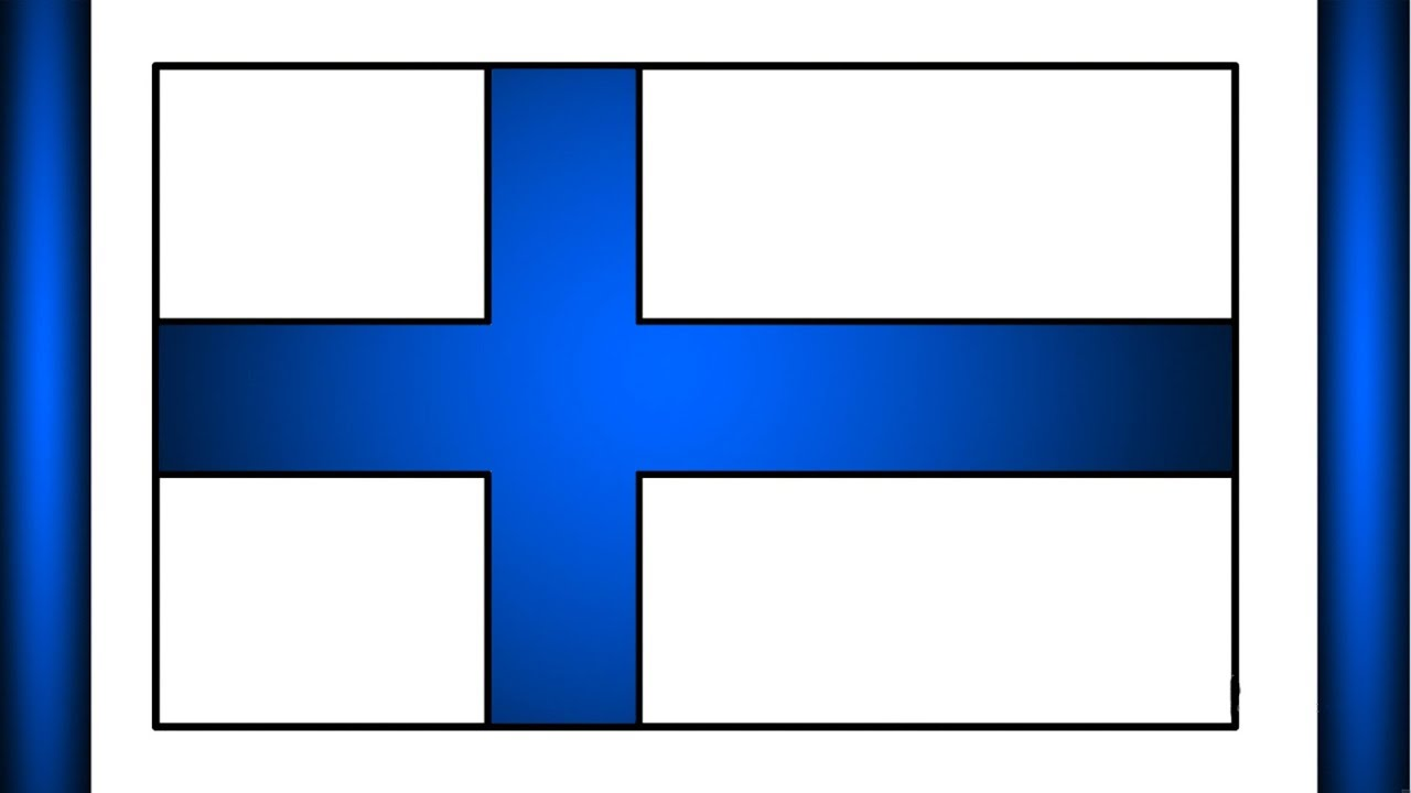 Finland Flag Drawing How To Draw National Flag Of Finland Finnish Flag Finland Flag Flag Drawing Art Youtube