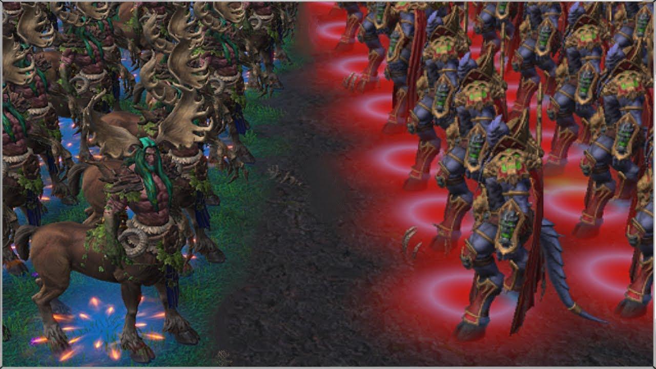 100 Archimondes vs 100 Cenariuses | Warcraft 3 Reforged