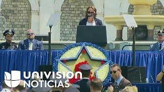 Donald Trump y Jeff Sessions participa en el evento conmemorativo de oficiales de la paz