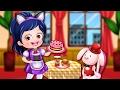 Baby Hazel Dresses up like Waitress | Baby Hazel Games | Dress up Games for Girls