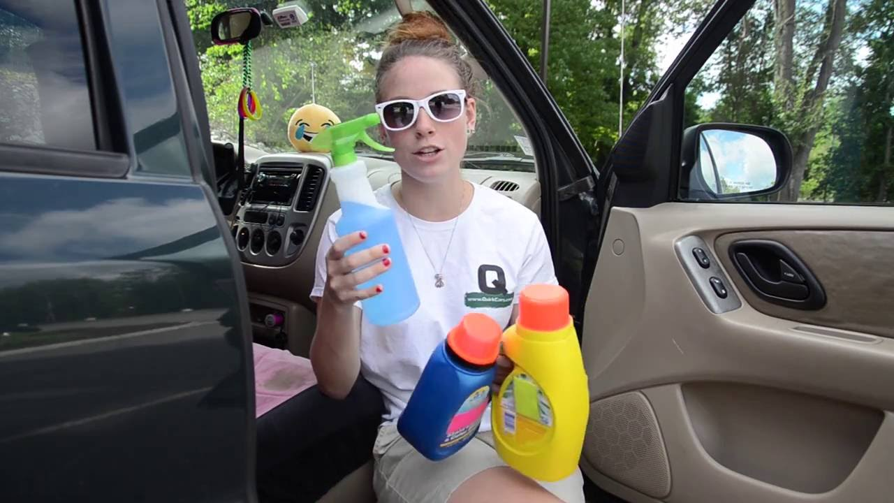 How to get stains out of your car interior youtube - How to clean stains on car interior roof ...