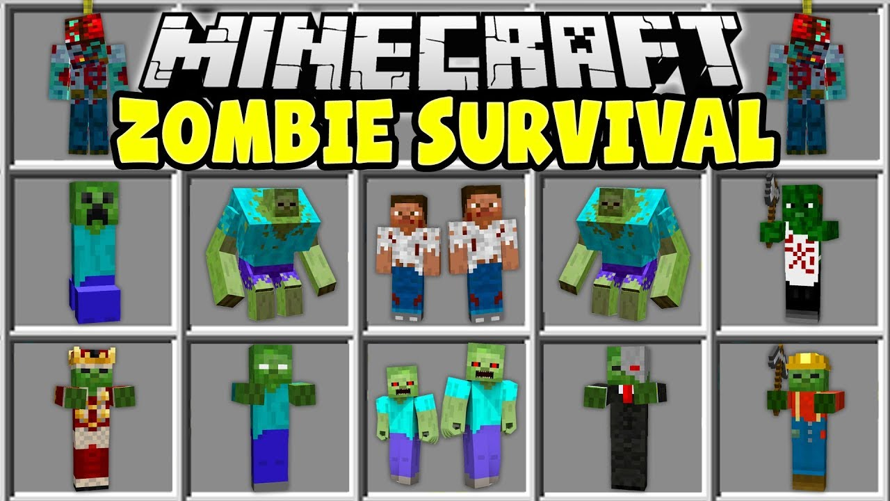 Minecraft Zombie Survival Mod Try To Survive In A Minecraft