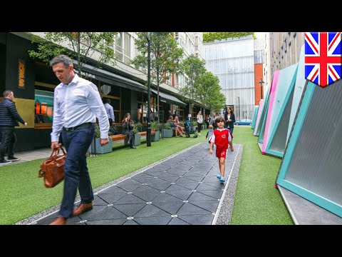 Smart Street: London's Bird Street Turns Footsteps Into Electricity, Provides Clean Air - TomoNews