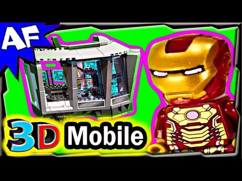 3D Mobile MALIBU MANSION Attack - Lego Iron Man 76007 Animated Building Review