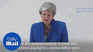 Theresa May: MPs will get vote on whether to hold second referendum thumbnail