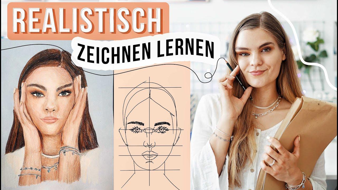 Download Realistisch Zeichnen lernen - Gesichter malen Tutorial #PaintWithMe // I'mJette