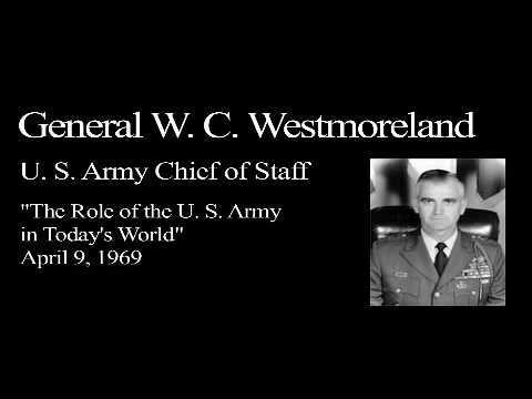 Landon Lecture | W.C. Westmoreland - audio only