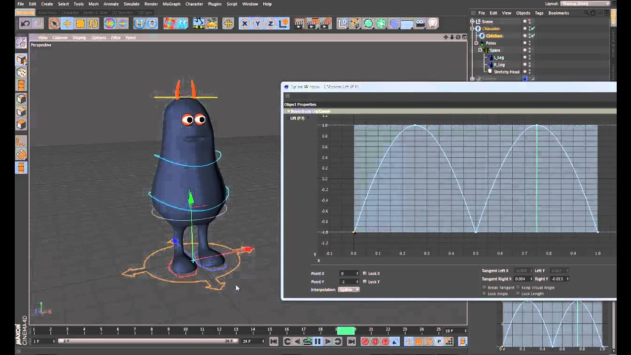 CINEMA 4D R13 Character Rigging & Animation Tutorial by Brian Horgan