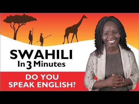 Learn Swahili - Swahili in Three Minutes - Do you speak English?
