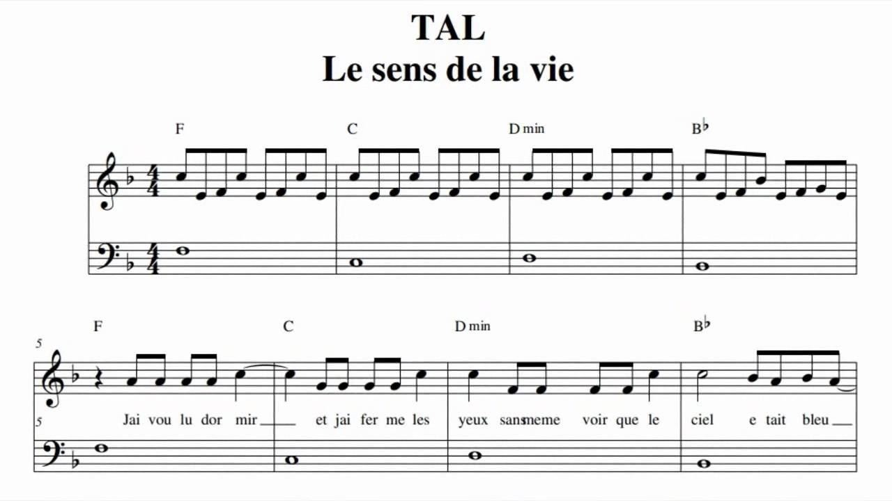 partition piano tal