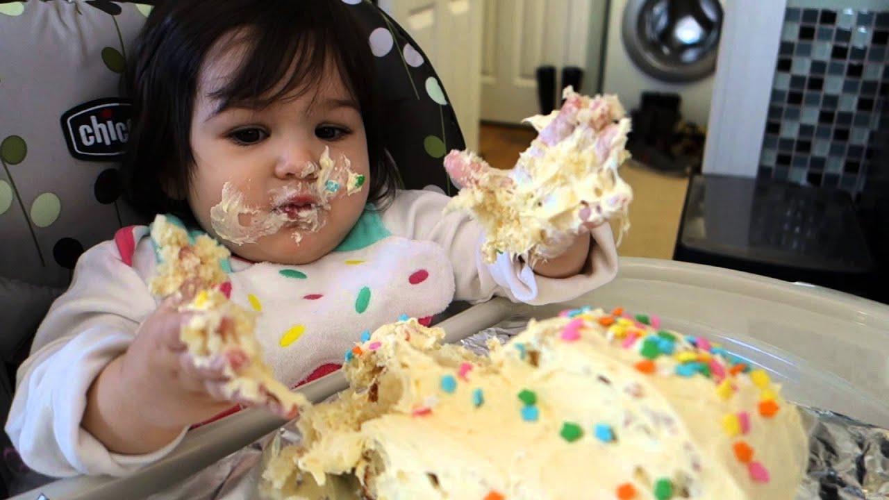 Singing Happy Birthday and Eating Cake...yum! - YouTube