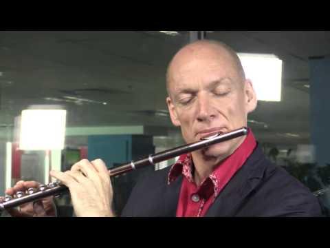 Grammy award-winning flautist, Wouter Kellerman plays a song for Mandela in our studio