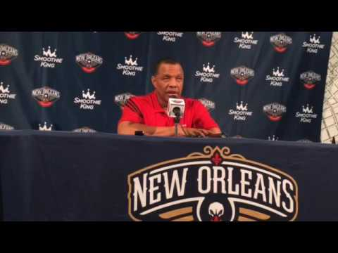 Pelicans coach Alvin Gentry discusses Jrue Holiday, Anthony Davis and more