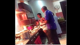 Tuface Idibia Coooking With His Wife  Annie Macaulay
