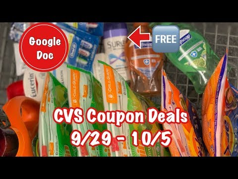 CVS Free and Cheap Coupon Deals & Haul   9/29 – 10/5