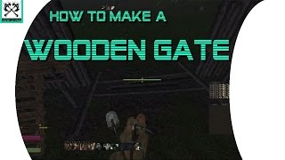Life Is Feudal - How To Make A Wooden Gate [early Access]