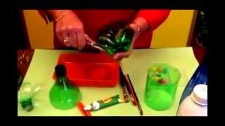 Reciclaje - Hacer flores con botellas