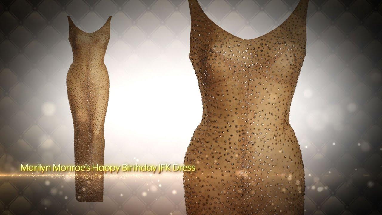 3ead6ee4f0b Julien s Auctions  Historic Marilyn Monroe JFK Dress - YouTube