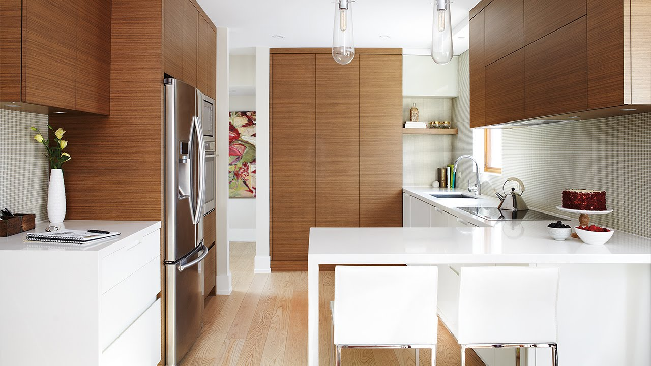 A Small Modern Kitchen With Smart Storage