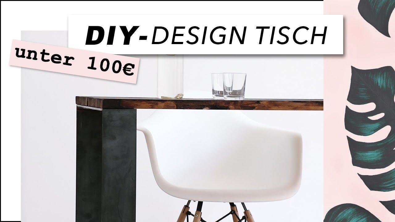 Diy designer tisch aus holz einfach selber bauen nur for Wohnwand industrial