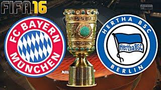 Fifa 16 - fc bayern mÜnchen gegen hertha bsc berlin (dfb pokal | achtelfinale)◄fcb #32►
