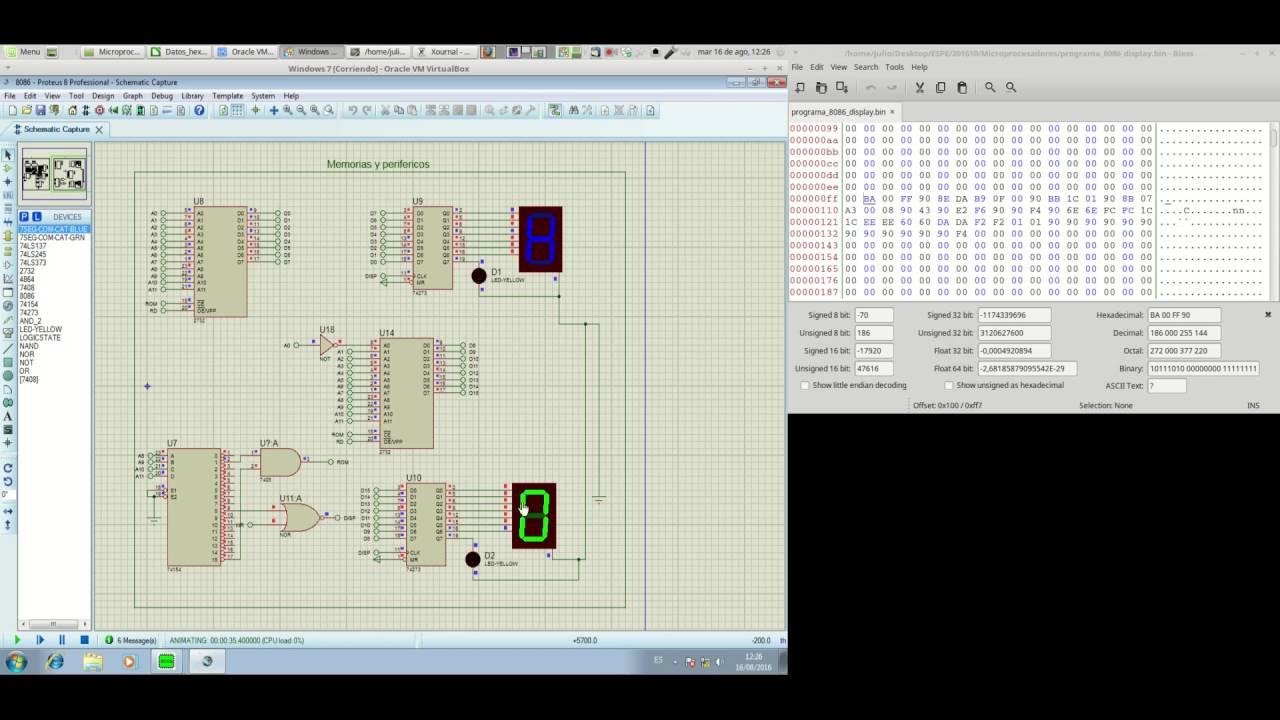 Simulación 8086 (básico)