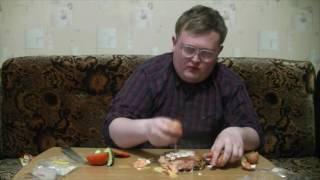 приготовление гамбургера видео