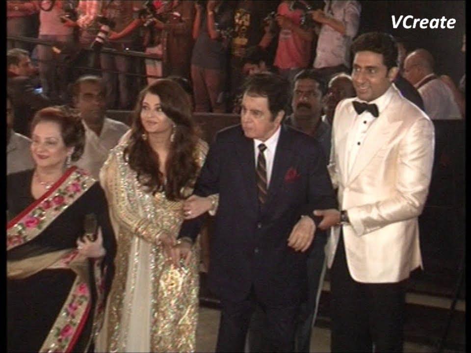 Dilip Kumar and Saira Banu at Amitabh Bachchan's birthday ...