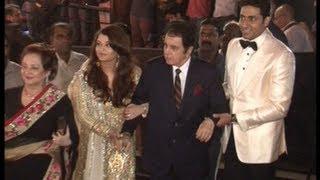 Dilip Kumar and Saira Banu at Amitabh Bachchan's birthday party.