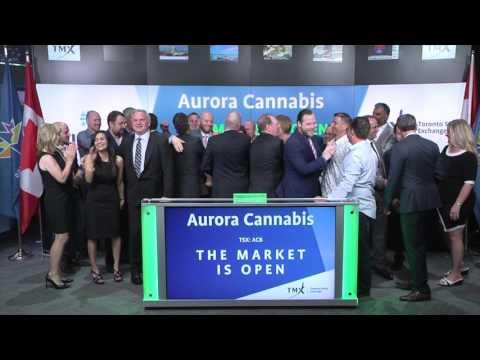 Aurora Cannabis Inc. Opens Toronto Stock Exchange, July 24, 2017