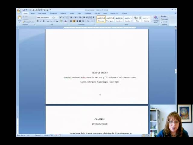 How To Number Pages In Your Thesis With Word - YouTube