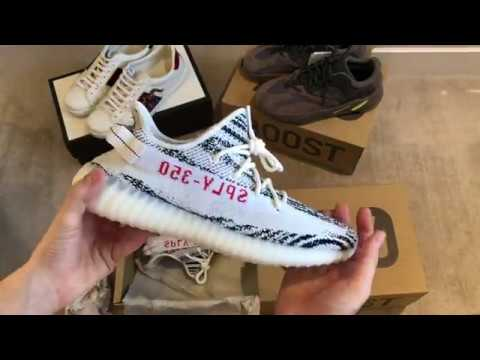8db4cf3dc 2018 Yeezy 350 Zebra (3rd Release) - Unboxing   Review - YouTube