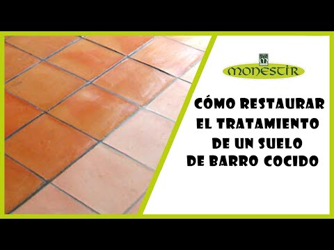 Como renovar el tratamiento de un suelo de barro cocido - Como limpiar suelos de barro ...