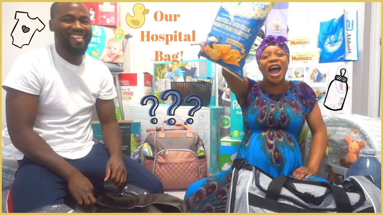 WHAT'S IN OUR HOSPITAL BAG/DIAPER BAG | MOM, DAD & BABY