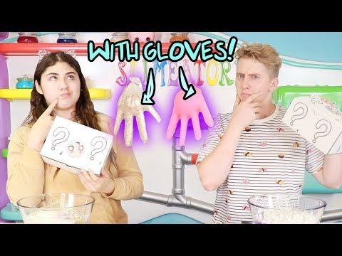 MYSTERY BOX SLIME SWITCH-UP CHALLENGE WITH GLOVES! Slimeatory #427