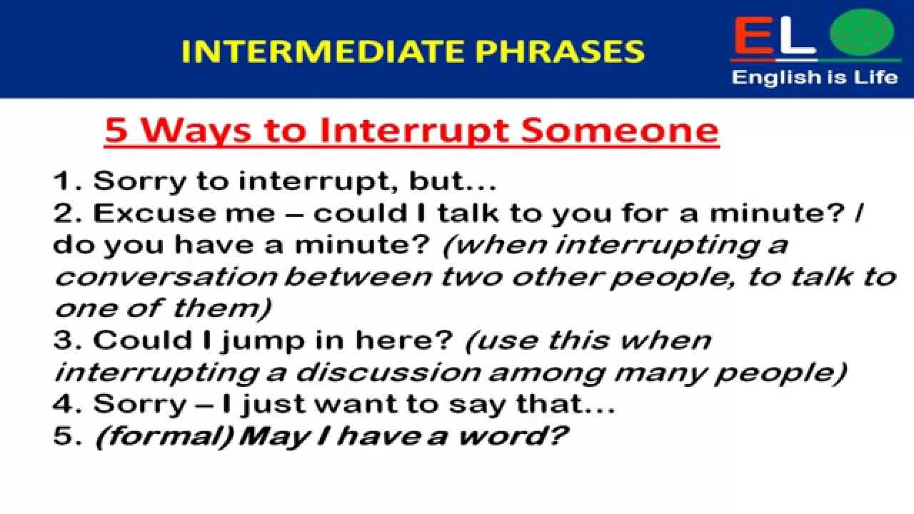 Useful phrases in British English