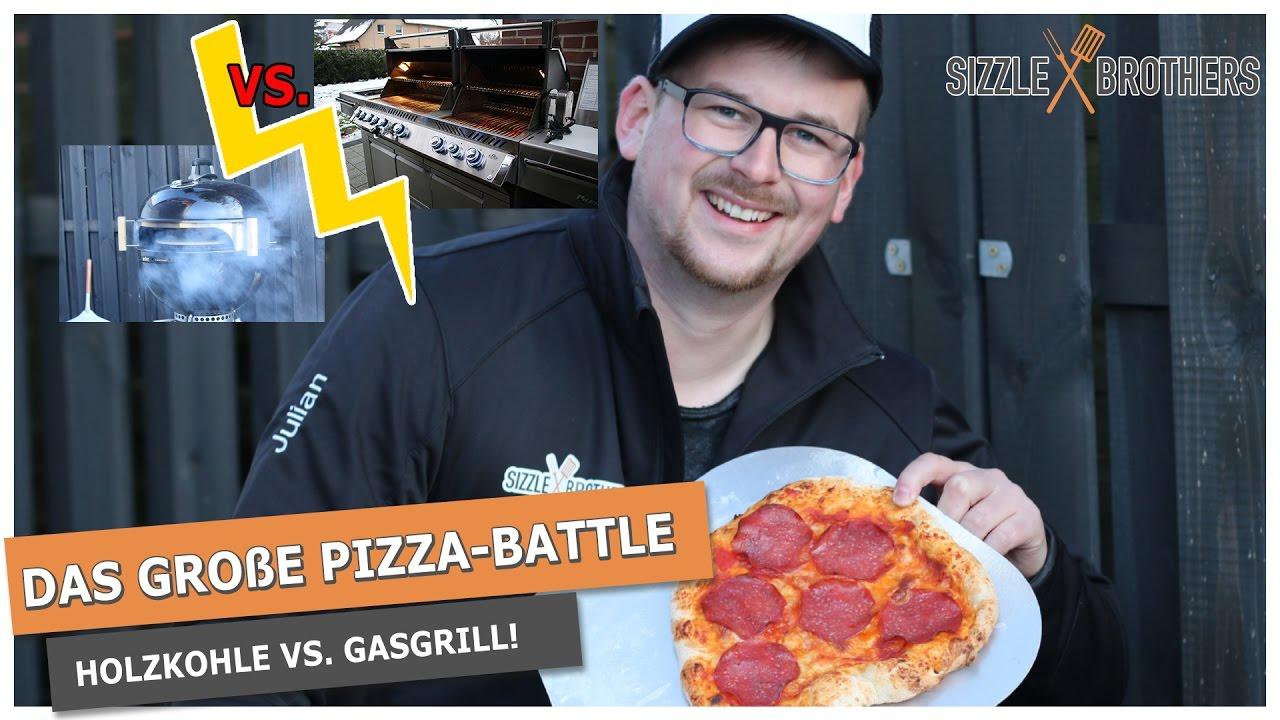 Pizza Gasgrill : Pizza battle holzkohle vs. gasgrill !! wer gewinnt ?? youtube