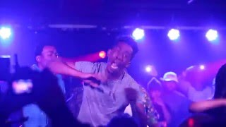 desiigner goes crazy during panda performance in nyc