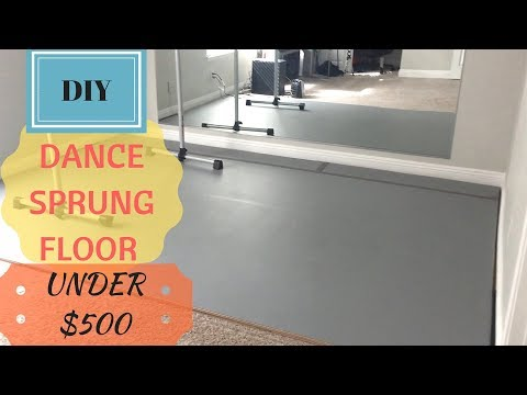 DIY Dance Sprung Floor over carpet | Use it for Dance, Ballet, Yoga, Gym, Weights