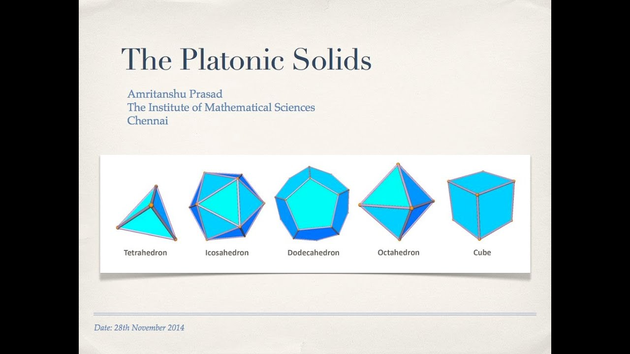 The Platonic Solids (exploration with origami models ... Images Of Solids