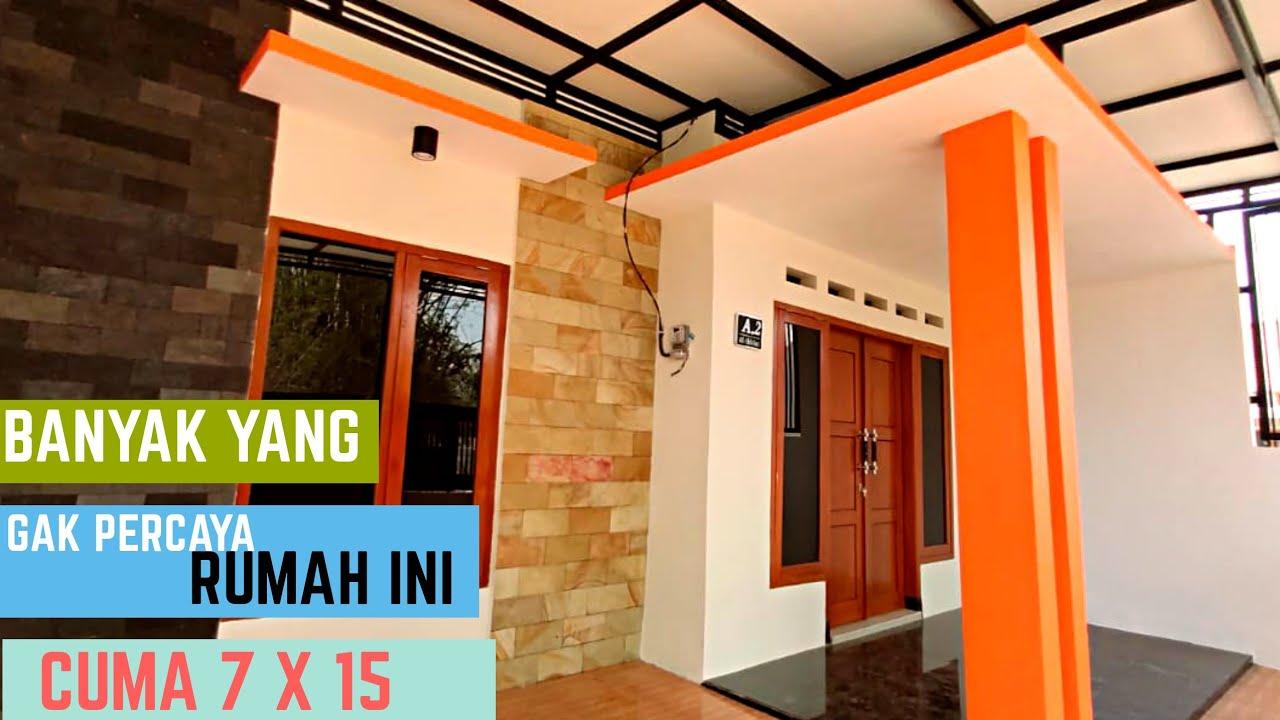Rumah Minimalis Ukuran 7x15. Terlihat Luas Dan Lega Dana Murah - YouTube
