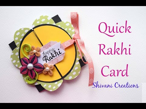 Quick Card for Rakhi/ DIY Handmade Rakshabandhan Greeting Card/ Gate Fold Card