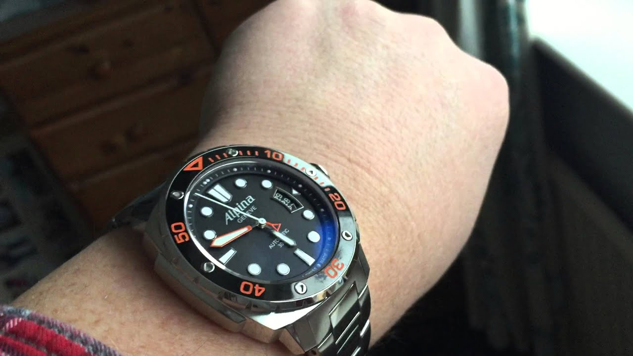 Alpina ALLBOVB Mens Extreme Diver Watch Black YouTube - Alpina diver