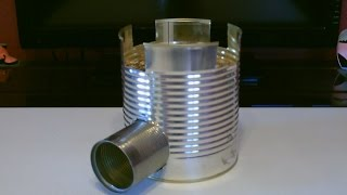 Homemade STEEL CAN Rocket Stove! - The