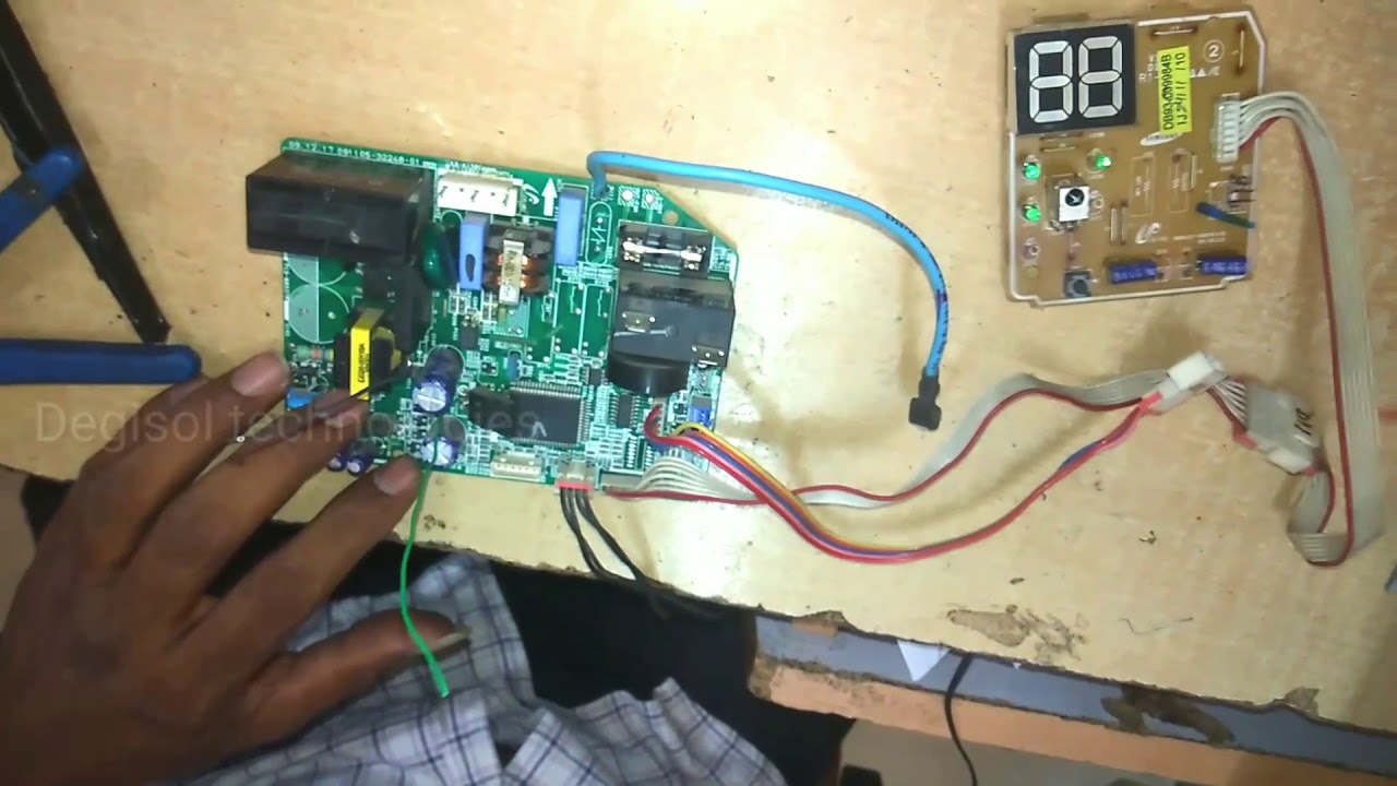 Samsung split AC pcb repairing in hindi
